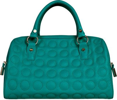 BODHI Soft Bubble Speedy Satchel Emerald - BODHI Leather Handbags