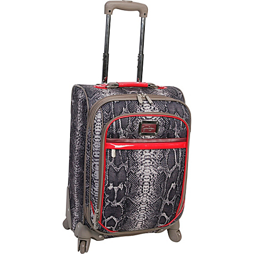 "Jessica Simpson Luggage Snake 20"" Exp. Upright Neutral - Jessica Simpson Luggage Small Rolling Luggage"