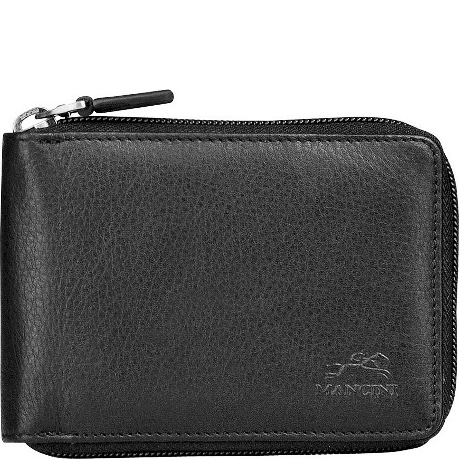 Mancini Leather Goods Men's Zippered Wallet with Removable ...