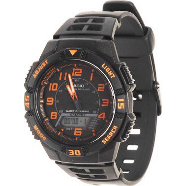 Casio Men's Slim Solar Multi-Function Analog-Digital Watch ...