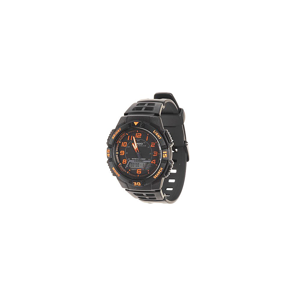 Casio Men's Slim Solar Multi-Function Analog-Digital Watch Black - Casio Watches