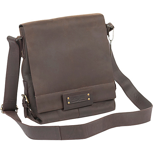 ClaireChase Vintage Leather  iPad Shoulder Bag Cafe - ClaireChase Laptop Messenger Bags