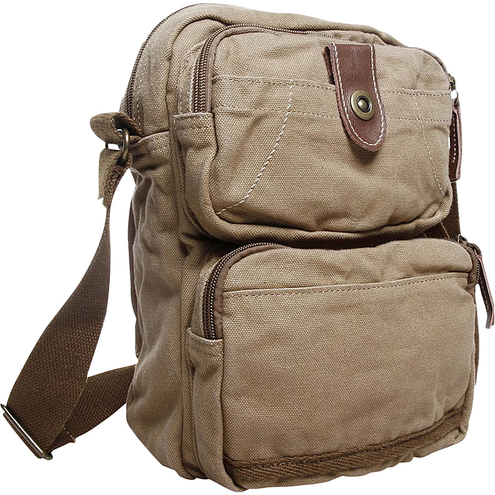 Vagabond Traveler Washed Canvas Cross Body Bag Khaki Vagabond Traveler Other Men s Bags