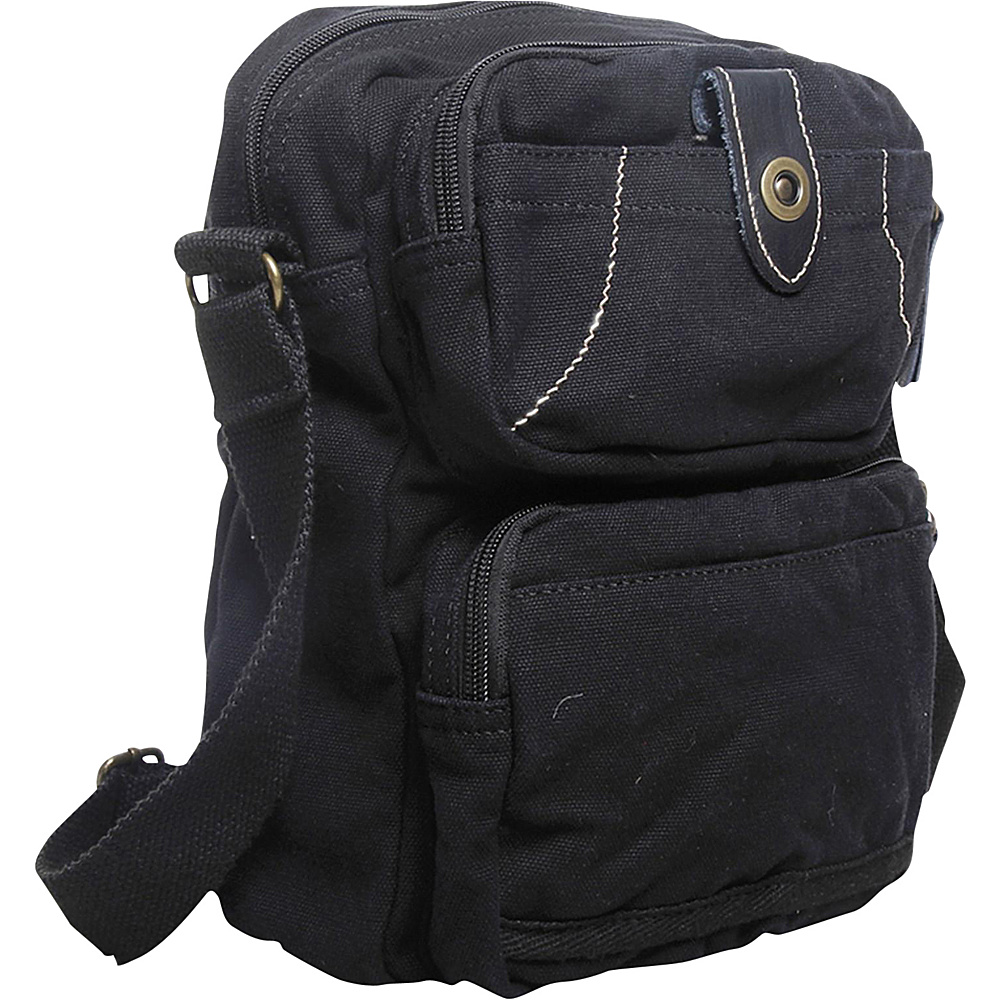 Vagabond Traveler Washed Canvas Cross Body Bag Black - Vagabond Traveler Other Mens Bags - Work Bags & Briefcases, Other Men's Bags