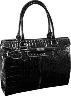 McKlein USA Francesca Ladies' Laptop Tote Black - McKlein USA Women's Business Bags