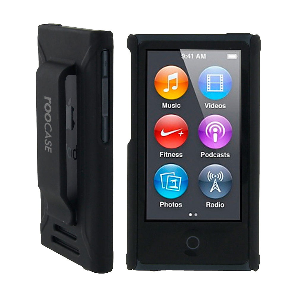 rooCASE Ultra Slim Matte Shell Case for iPod Nano 7 Black - rooCASE Electronic Cases
