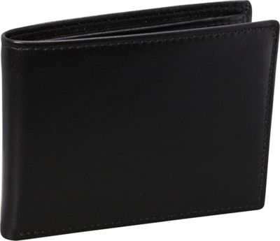 Budd Leather Nappa Soft Leather Slim Wallet w/ 8 Credit Card Slits Black - Budd Leather Men's Wallets
