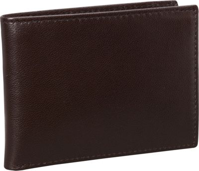Budd Leather Nappa Soft Leather Slim Wallet w/ 8 Credit Card Slits Brown - Budd Leather Men's Wallets