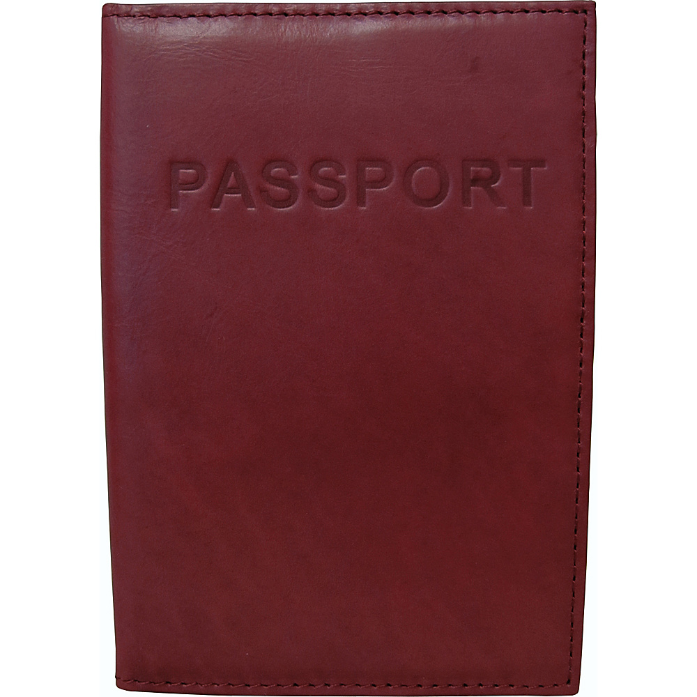 AmeriLeather Luxurious Leather Passport Holder Raspberry AmeriLeather Travel Wallets