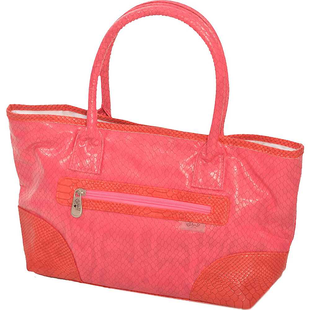 Glove It Signature Collection Mid-Size Tote Bag Pink Snake - Glove It All-Purpose Totes