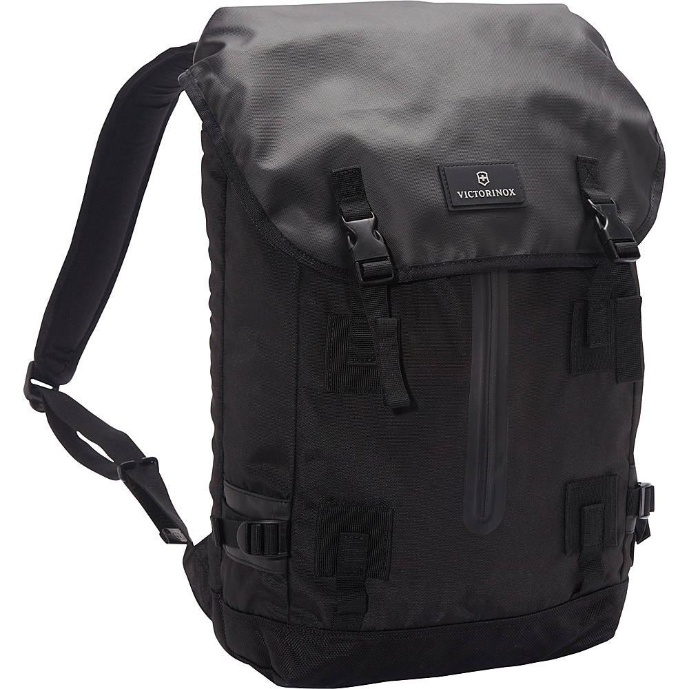 Victorinox Altmont 3.0 Flapover Drawstring Laptop Backpack Black - Victorinox Business & Laptop Backpacks