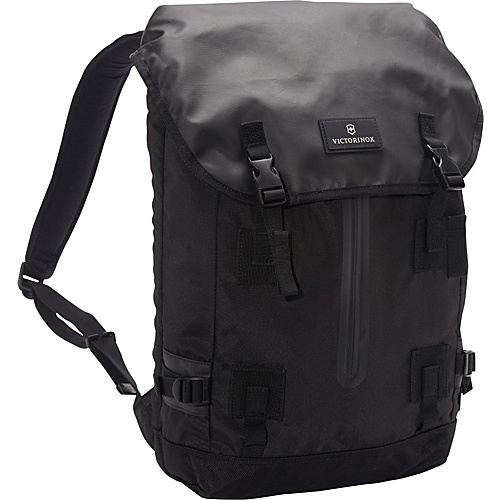 Victorinox Altmont 3.0 Flapover Drawstring Laptop Backpack Black - Victorinox Laptop Backpacks