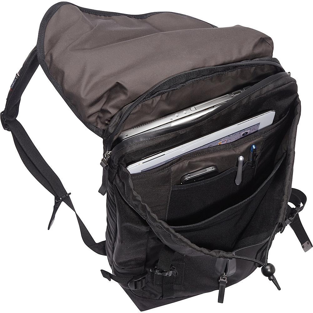 Victorinox Altmont 3.0 Flapover Drawstring Laptop Backpack Black - Victorinox Business & Laptop Backpacks