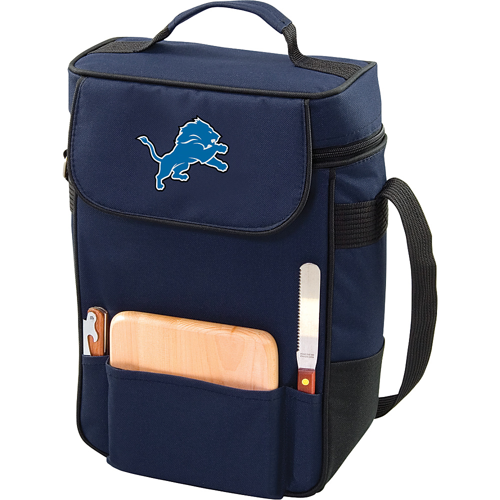 Picnic Time Detroit Lions Duet Wine & Cheese Tote Detroit Lions Navy - Picnic Time Outdoor Coolers