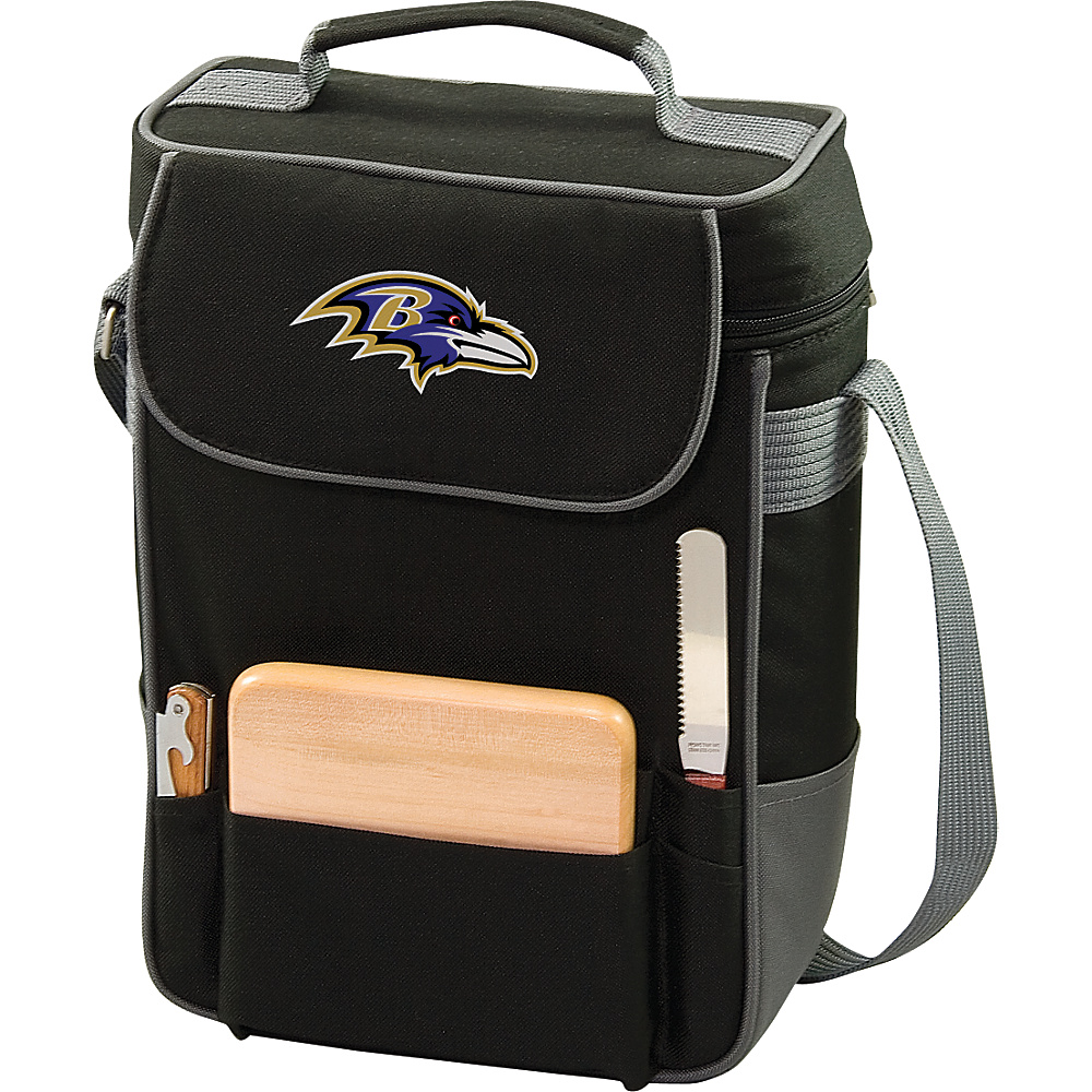 Picnic Time Baltimore Ravens Duet Wine & Cheese Tote Baltimore Ravens - Picnic Time Outdoor Coolers - Outdoor, Outdoor Coolers