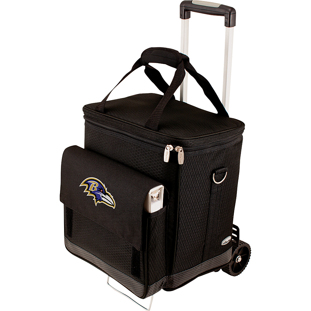 Picnic Time Baltimore Ravens Cellar w/Trolley Baltimore Ravens - Picnic Time Outdoor Coolers - Outdoor, Outdoor Coolers