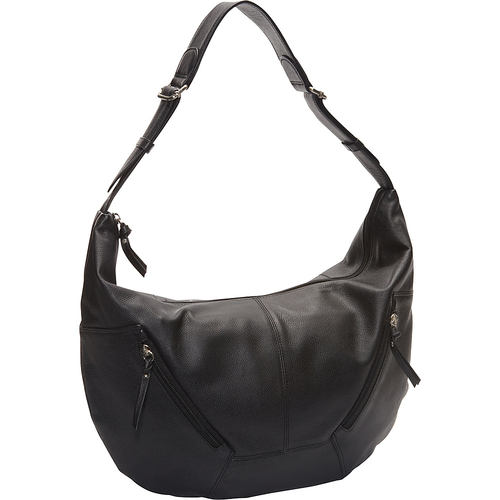Derek Alexander EW Top Zip Hobo Black - Derek Alexander Leather Handbags - Handbags, Leather Handbags