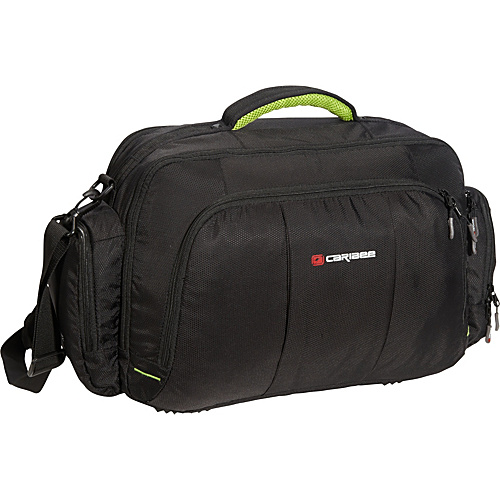 Caribee Fast Track Cabin Bag Black / Gray - Caribee Small Rolling Luggage