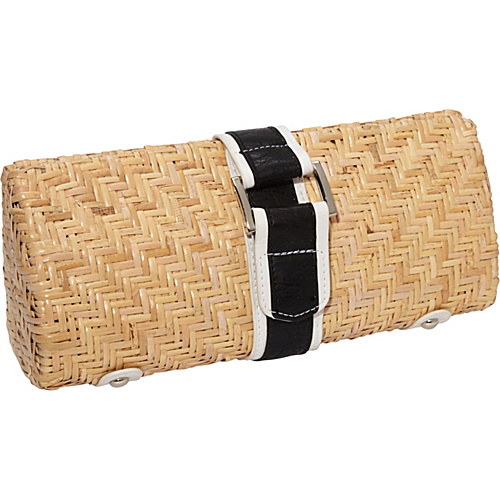 Straw Studios Quogue Clutch Black - Straw Studios Straw Handbags