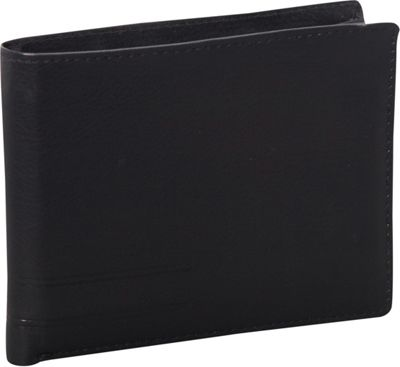 Mancini Leather Goods RFID Secure Collection: Men's RFID Classic Billfold Wallet with Removable Passcase Black - Mancini Leather Goods Men's Wallets