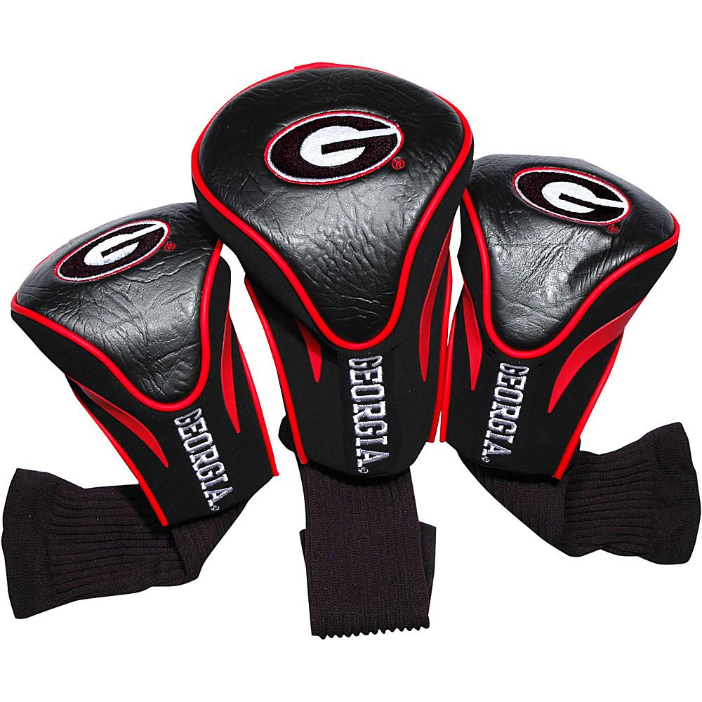 Team Golf USA University of Georgia Bulldogs 3 Pack Contour Headcover Team Color - Team Golf USA Golf Bags