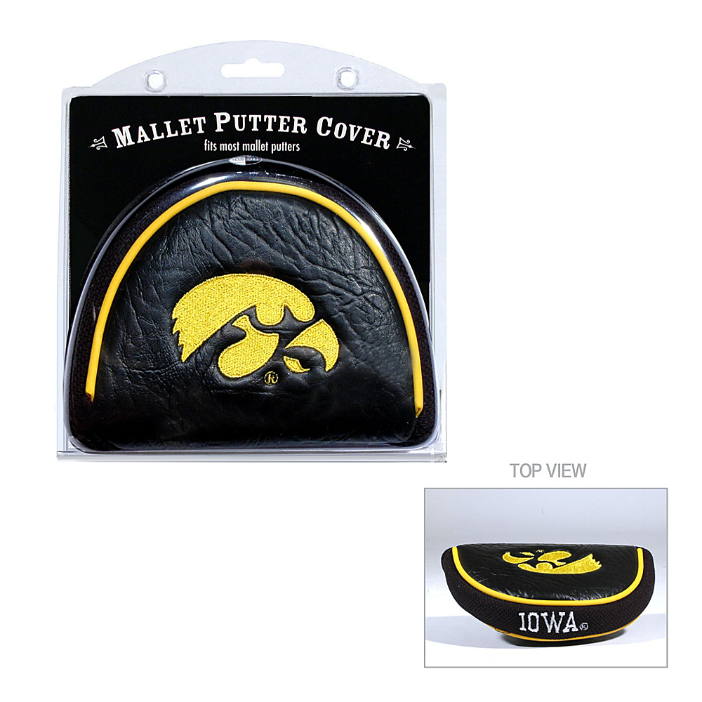 Team Golf USA University of Iowa Hawkeyes Mallet Putter Cover Team Color - Team Golf USA Golf Bags