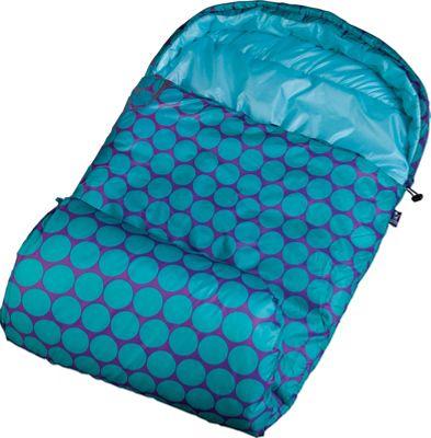 Wildkin Big Dot Aqua Stay Warm Sleeping Bag Big Dots Aqua - Wildkin Travel Pillows & Blankets