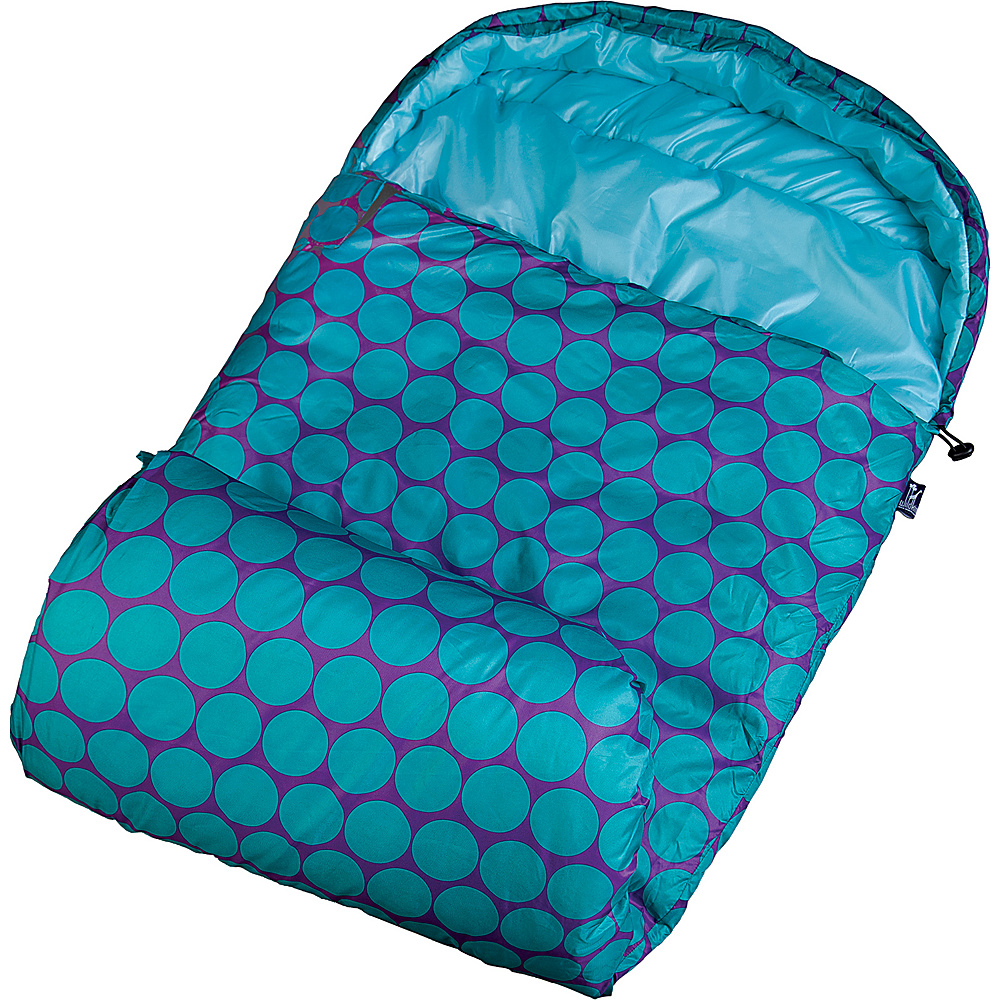Wildkin Big Dot Aqua Stay Warm Sleeping Bag Big Dots Aqua - Wildkin Travel Pillows & Blankets