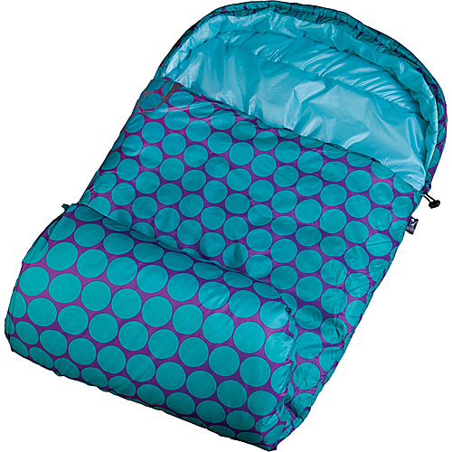Wildkin Big Dot Aqua Stay Warm Sleeping Bag Big Dots Aqua - Wildkin Travel Comfort and Health