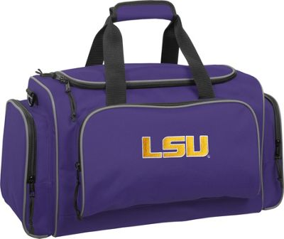 Wally Bags LSU Tigers 21 inch Collegiate Duffel Purple - Wally Bags Rolling Duffels
