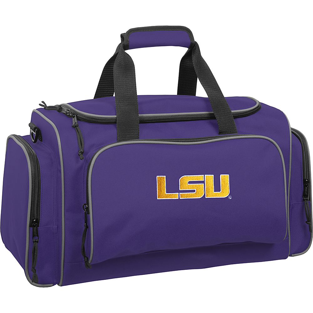 Wally Bags LSU Tigers 21 Collegiate Duffel Purple Wally Bags Rolling Duffels