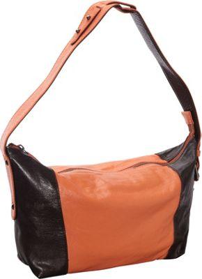 Latico Leathers Mingus Shoulder Bag Salmon/Espresso - Latico Leathers Leather Handbags