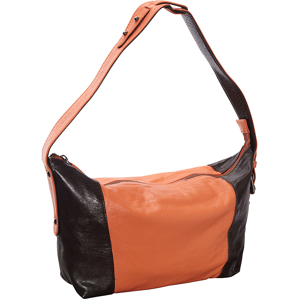 Latico Leathers Mingus Shoulder Bag Salmon Espresso Latico Leathers Leather Handbags