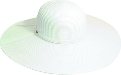Scala Hats Big Brim Paper Braid One Size - White - Scala Hats Hats/Gloves/Scarves