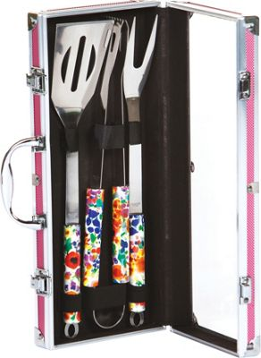Picnic Plus Vesta Barbecue Tool Set Pink - Picnic Plus Outdoor Accessories