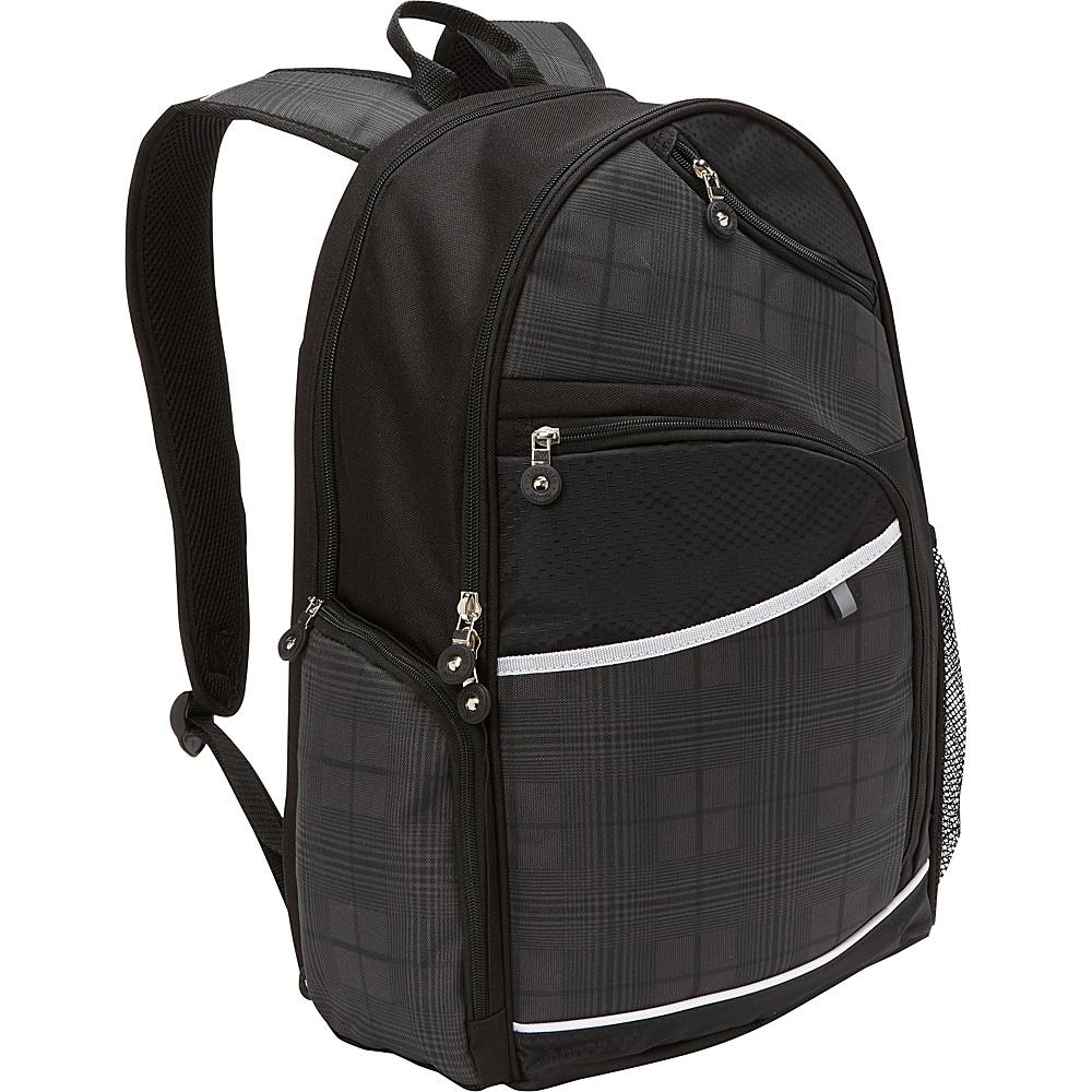 Bellino Matrix Plus Scan Express Computer Backpack Black - Bellino Business & Laptop Backpacks