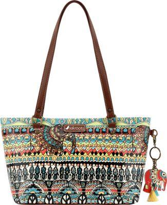 Sakroots Artist Circle Small Satchel Natural One World - Sakroots Fabric Handbags