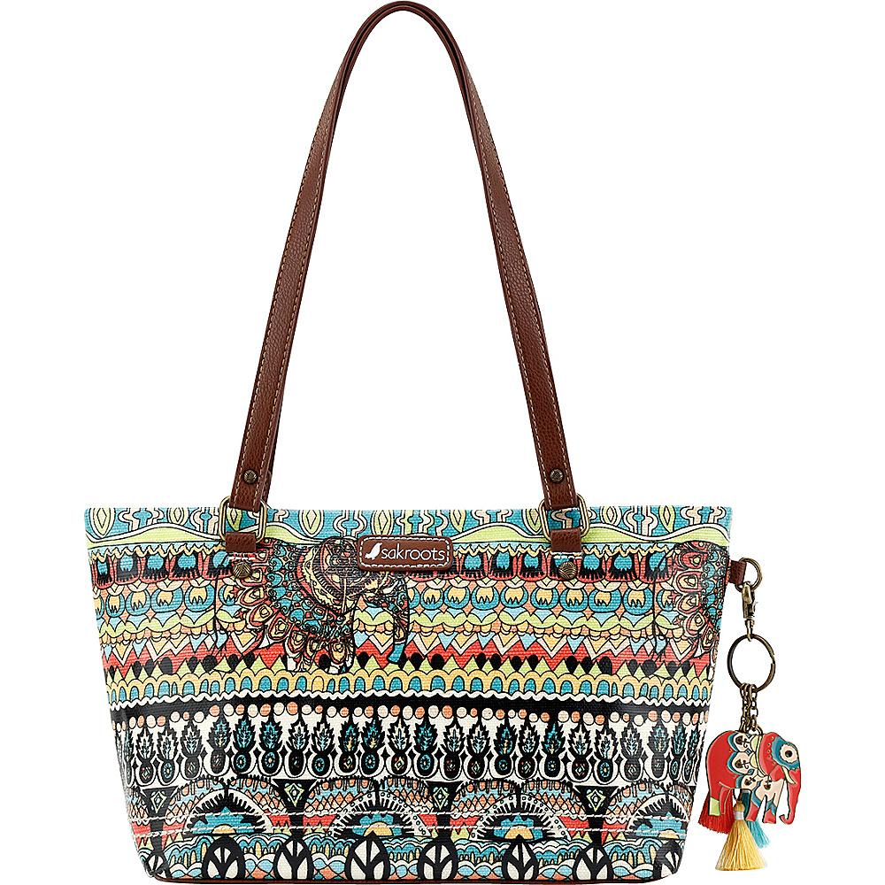 Sakroots Artist Circle Small Satchel Natural One World - Sakroots Fabric Handbags - Handbags, Fabric Handbags