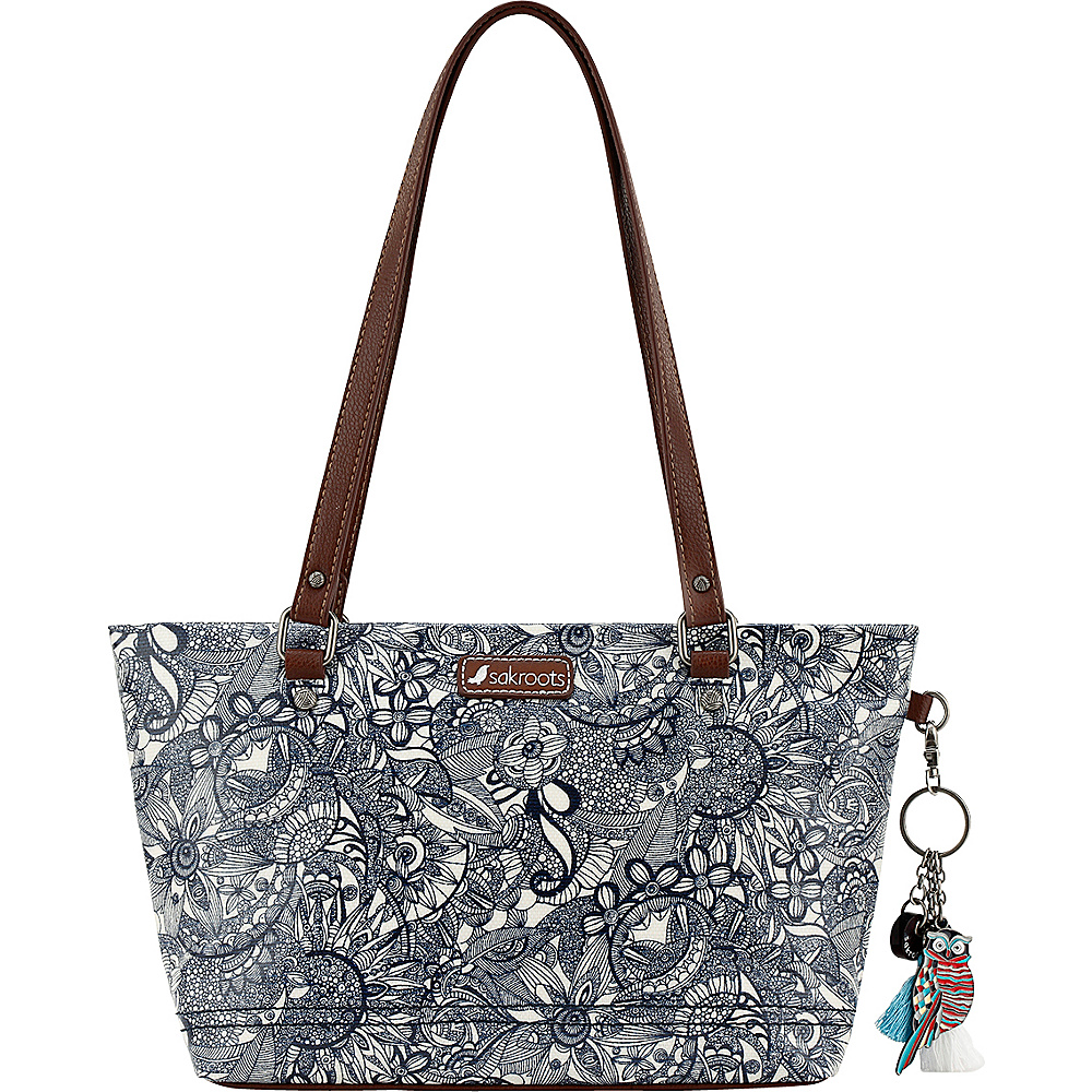 Sakroots Artist Circle Small Satchel Navy Spirit Desert - Sakroots Fabric Handbags - Handbags, Fabric Handbags