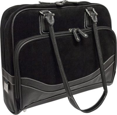Mobile Edge Classic Corduroy Tote - Small - 14.1 inch/15 inch Mac Black - Mobile Edge Women's Business Bags