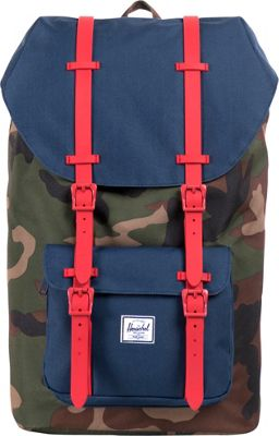 Herschel Supply Co. Little America Laptop Backpack - 15 inch Woodland Camo/Navy/Red - Herschel Supply Co. Business & Laptop Backpacks