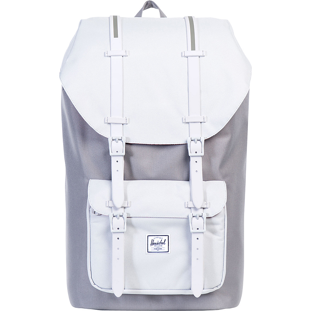 Herschel Supply Co. Little America Laptop Backpack Grey Lunar Rock Lunar Rock Rubber Herschel Supply Co. Laptop Backpacks