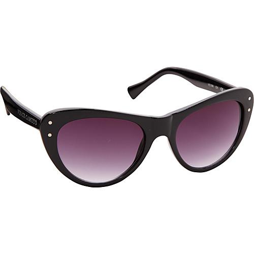 Vince Camuto Eyewear Fashion Cat Sunglasses with Vince Camuto Logo Black