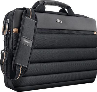 SOLO Pro 15.6 inch Laptop Slim Brief Black - SOLO Non-Wheeled Business Cases