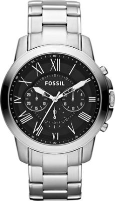 Fossil Grant Silver/Black - Fossil Watches