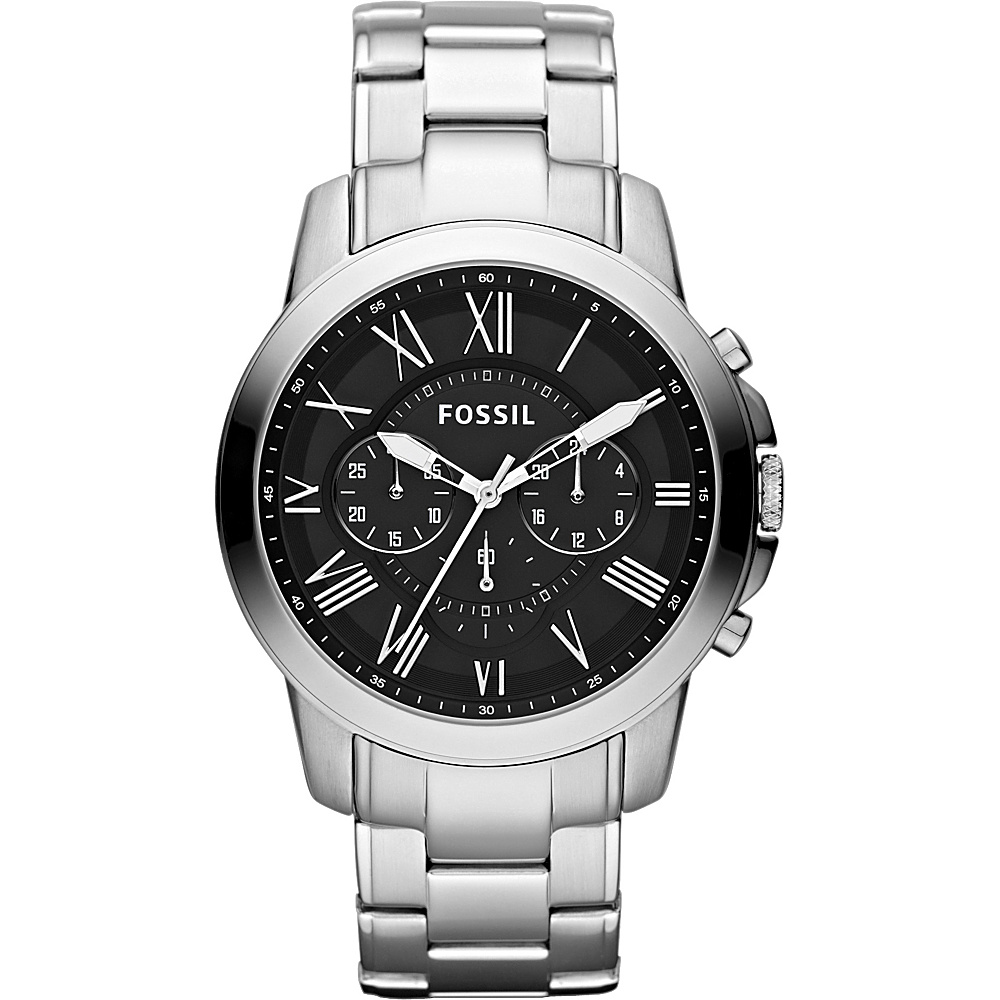 Fossil Grant Silver/Black - Fossil Watches - Fashion Accessories, Watches