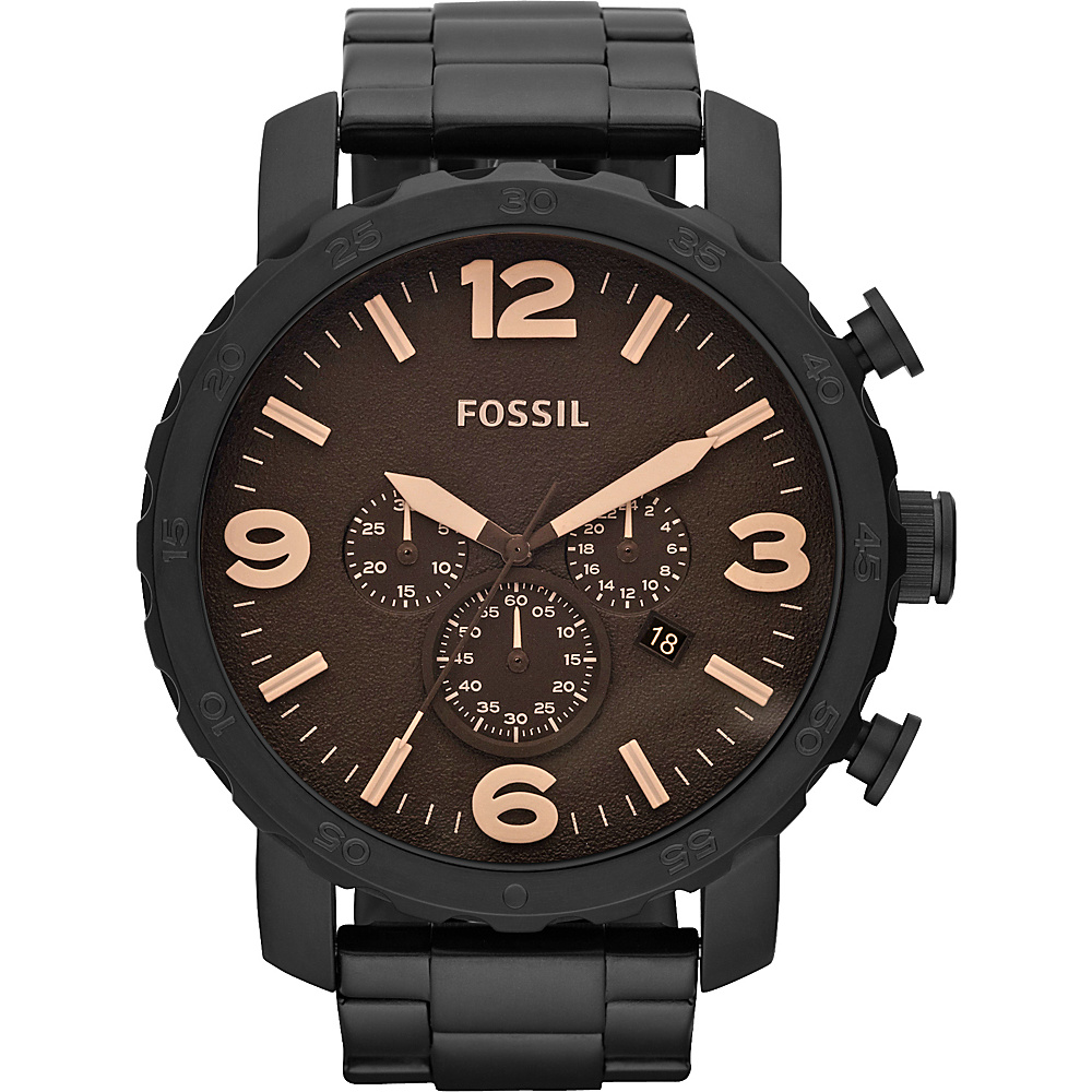 Fossil Nate Black Brown Fossil Watches