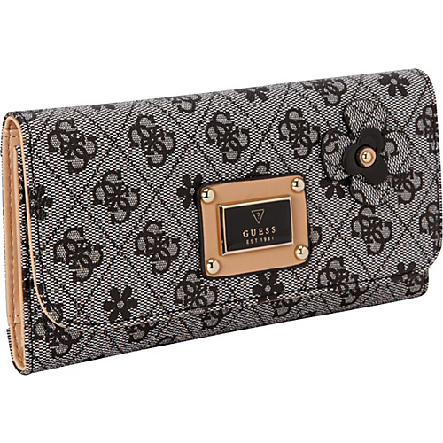 GUESS Persuasion Slim Clutch Black - GUESS Ladies Small Wallets