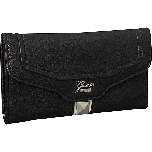 GUESS Gladis Slim Clutch Black Multi - GUESS Ladies Clutch Wallets