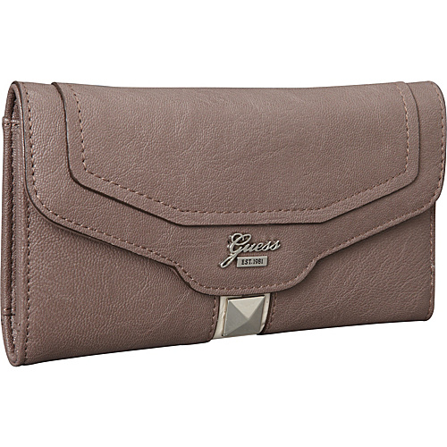 GUESS Gladis Slim Clutch Taupe Multi - GUESS Ladies Clutch Wallets